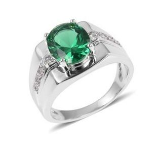 Jewelry - Simulated Emerald Men's Ring